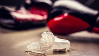 Best Boxing MMA Mouthguard on a Boxing Mat