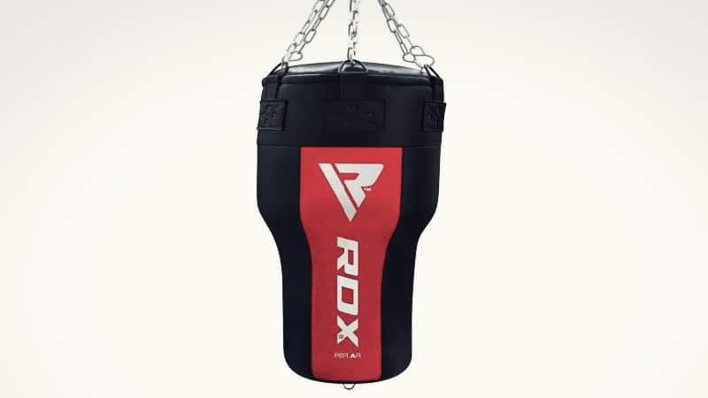 Black and Red Angled style Punching Bag
