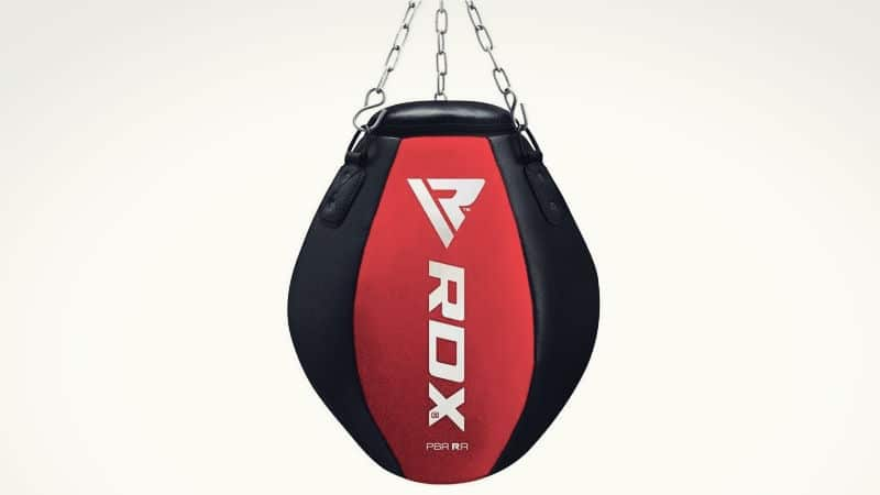 Red and Black Wrecking Ball Punching Bag
